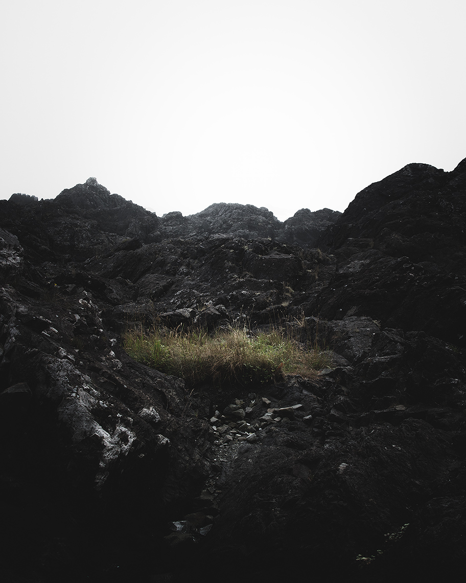 III - Black Rocks, Ucluelet // Under the brown fog of a winter dawn,